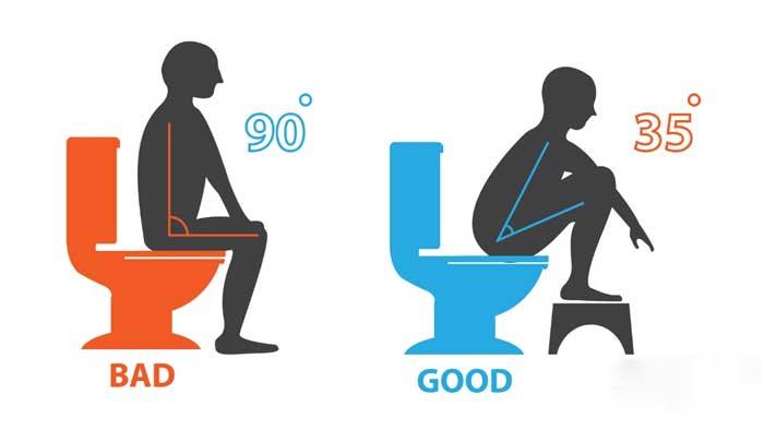 اصلاح نشستن روي توالت براي درمان بواسير